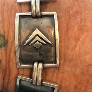 "Silpada 7"" Sterling Silver Large Link Bracelet"